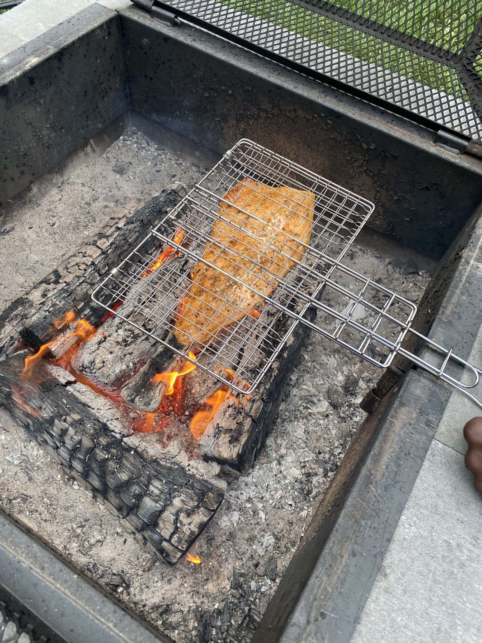 Fire Grilled Trout With Cous Cous Salad