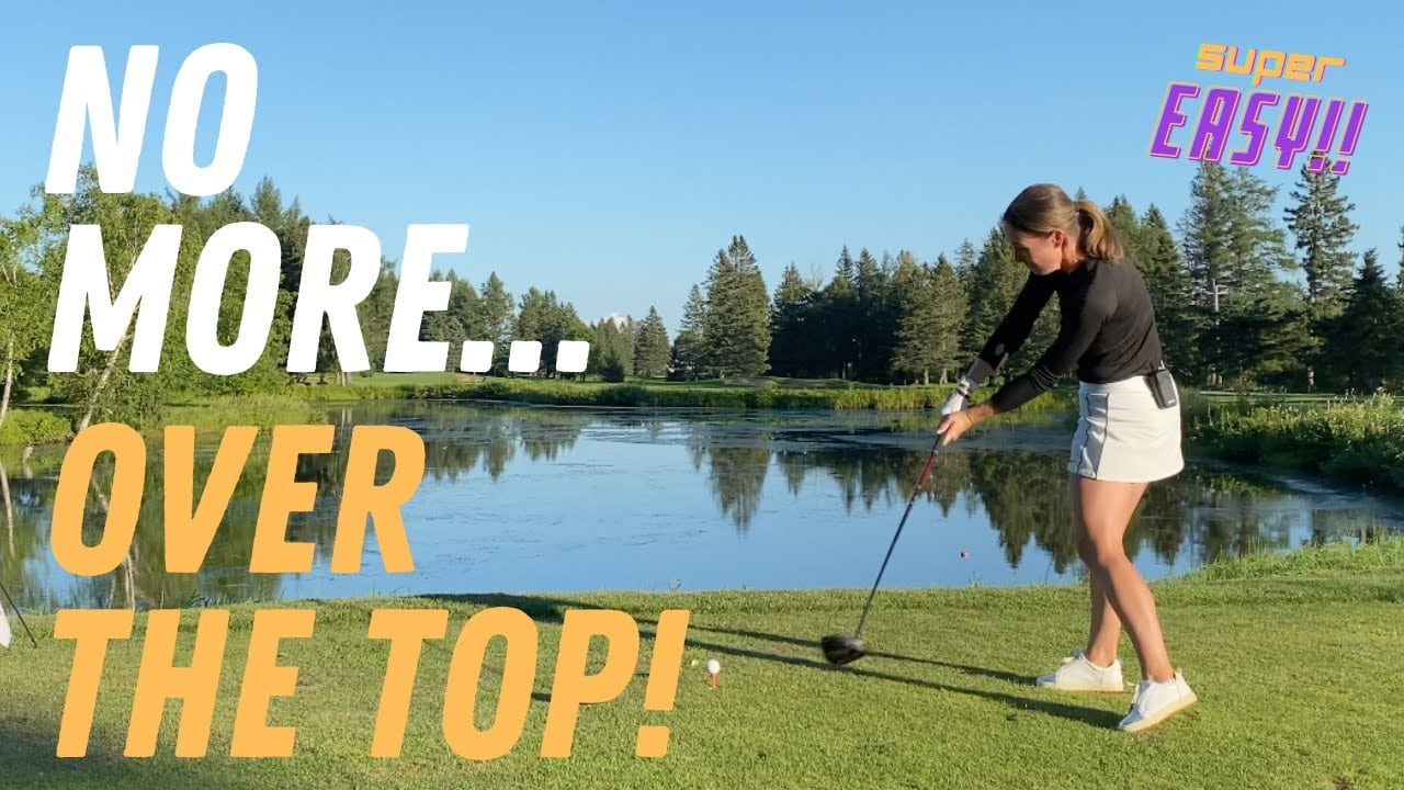 HOW TO CURE the OVER THE TOP in your GOLF DRIVER SWING