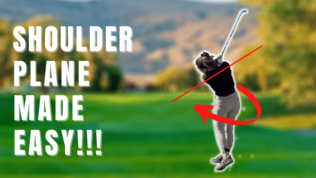 HOW TO STEEPEN YOUR GOLF SWING SHOULDER PLANE INSTANTLY🎯 Send rockets to the target!🚀